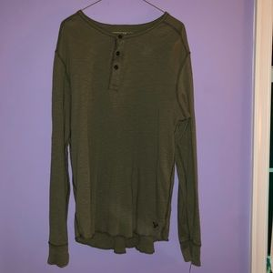 Green American Eagle long sleeve button up